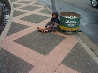 little beggar at Bogor street