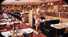 Inside a Typical Mr. Steak 1969