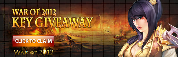 War of 2012 closed beta giveaway