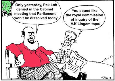 malaysia cartoon by kher making fun at pak lah