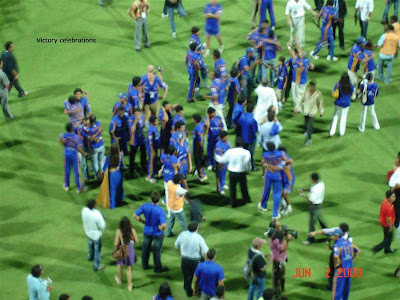 Rajasthan Royals victory celebrations.jpg