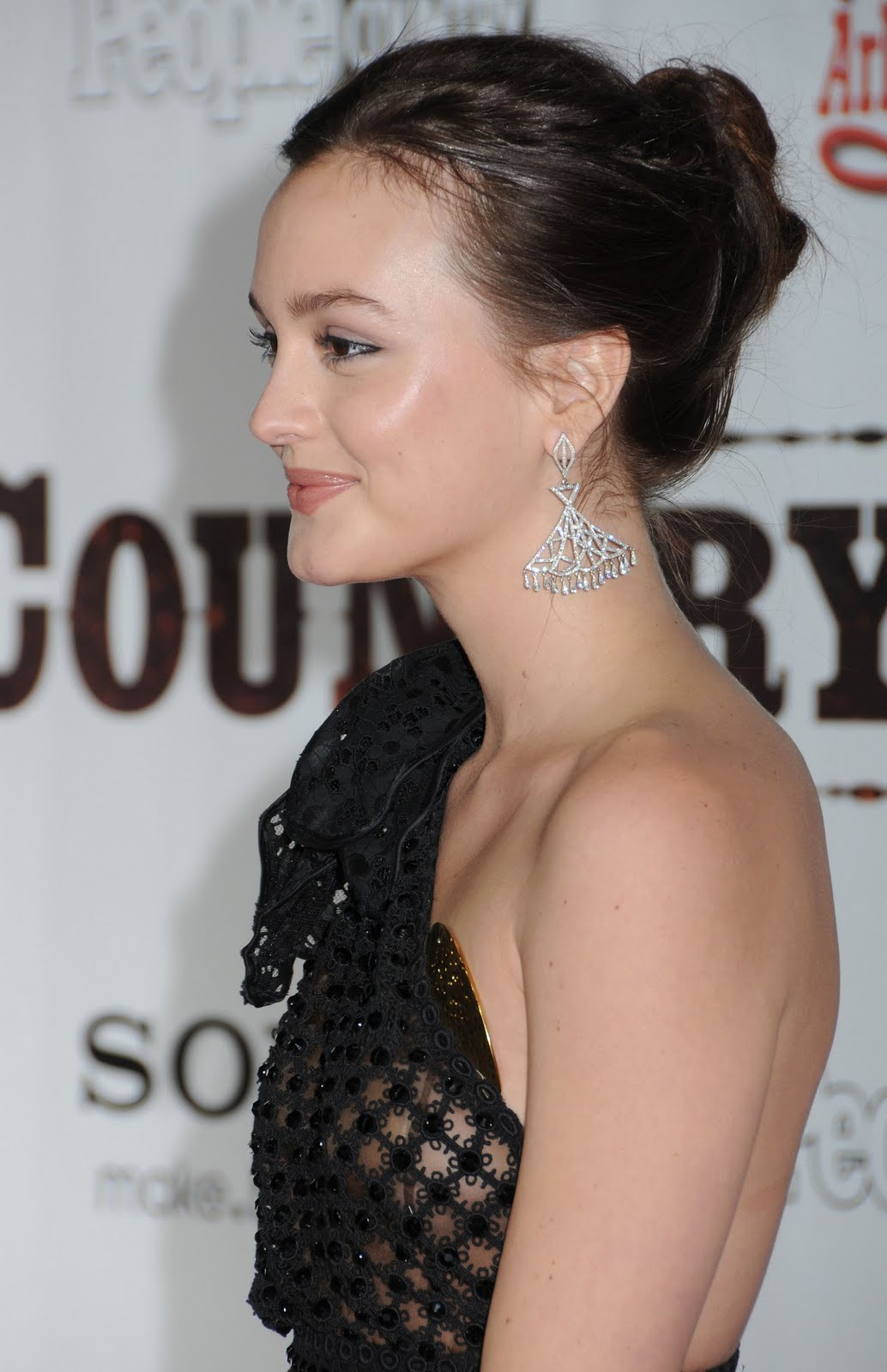 Leighton Meester In A See Thru Dress