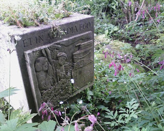Ian Hamilton Finlay and John Andrew, after Poussin, at Little Sparta