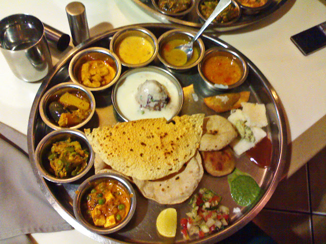 Typical Indian vegetarian meal