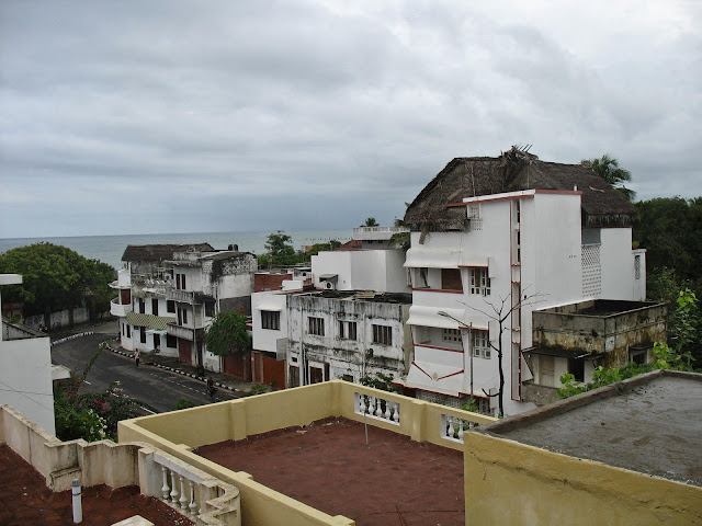 view of Puducherry town from terrace