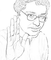 sketch of Raj Thackeray