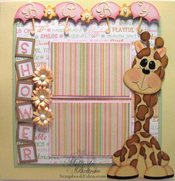 My Paper Crafting Com Baby Shower Giraffe Layout