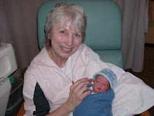 Grandma with little muchkin' Isaac