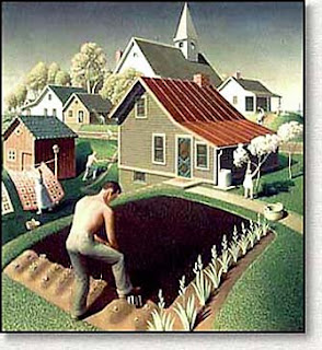 american gothic painting analysis