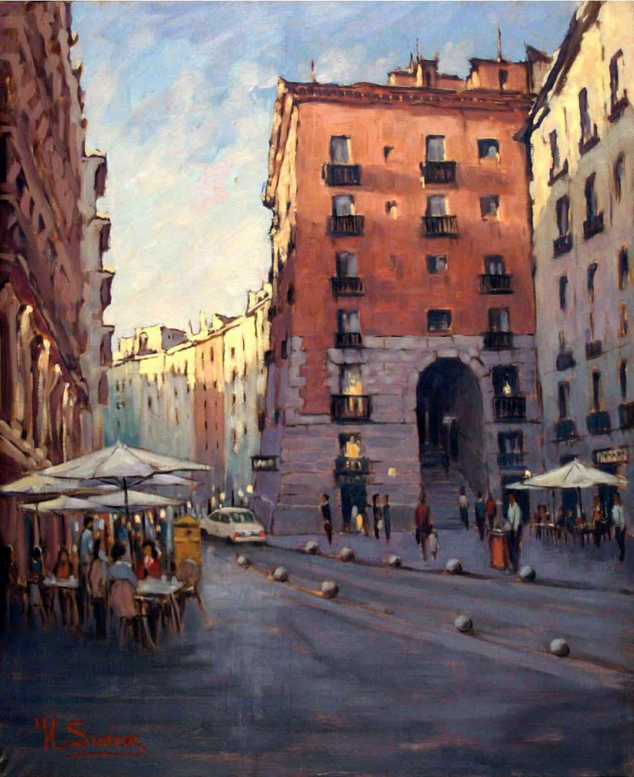 Galeria Pinturas De Arte: GALERIA-JLSUAREZ: MADRID-CUCHILLEROS-PAISAJES-PINTURAS