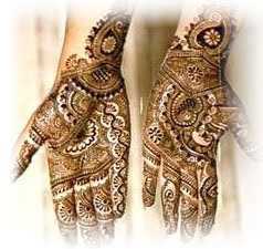 Mehndi designs on both hand palms
