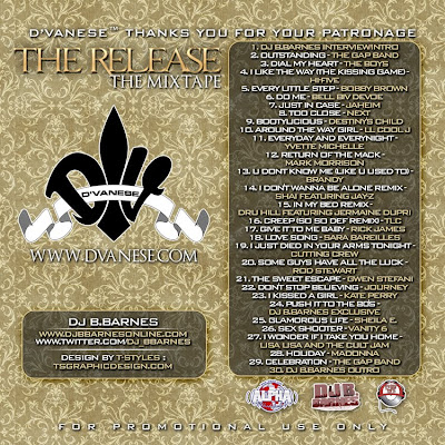 dvanesebackweb DVANESE presents The Release The Mixtape Hosted by DJ B.BARNES