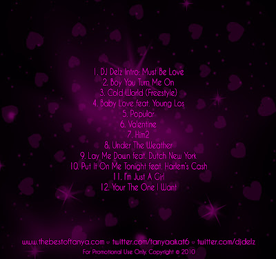 Tanya T6 Reflections Of Love Back TANYA AKA T6 (DAME GREASE ARTIST)  REFLECTIONS OF LOVE VDAY MIXTAPE WITH DJ DELZ