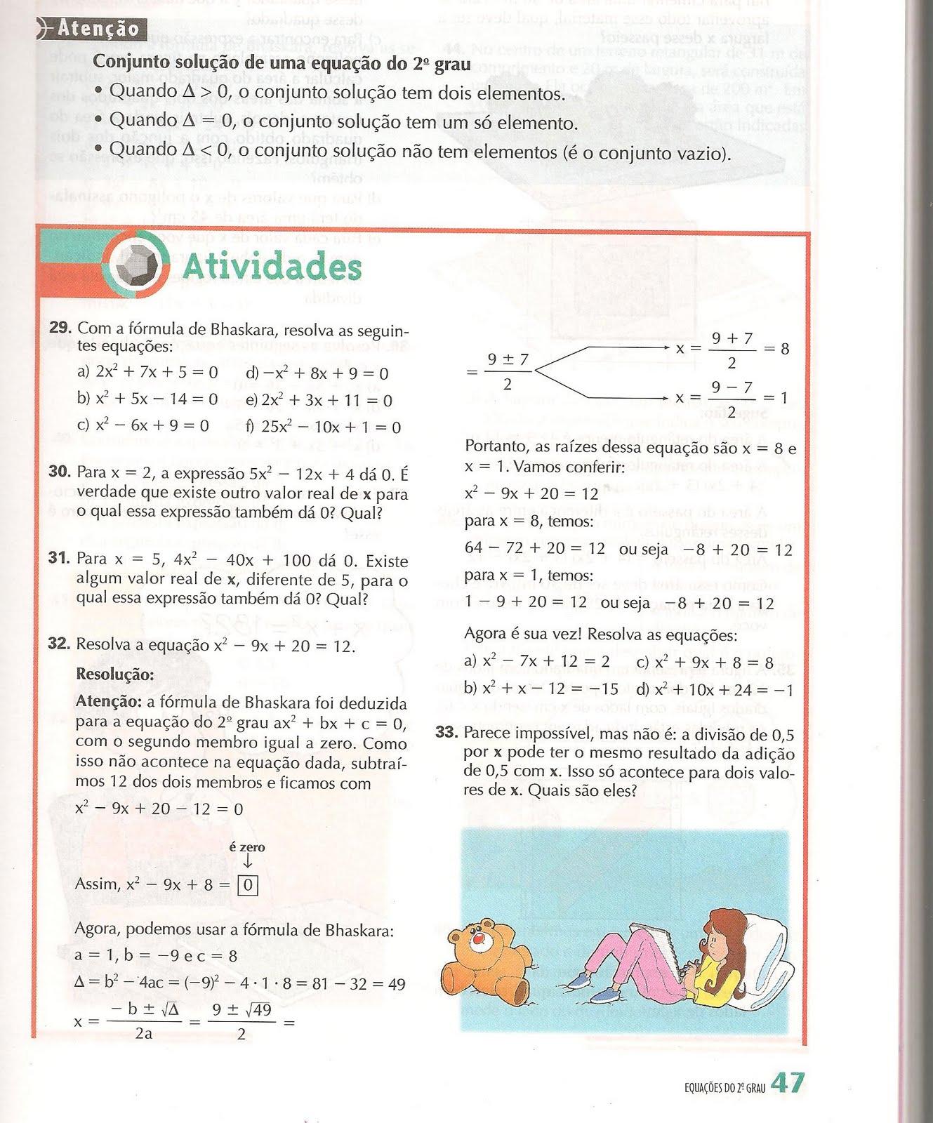 8ª C - Tarefas e Afins: Exercícios de Matemática - Equações do ...
