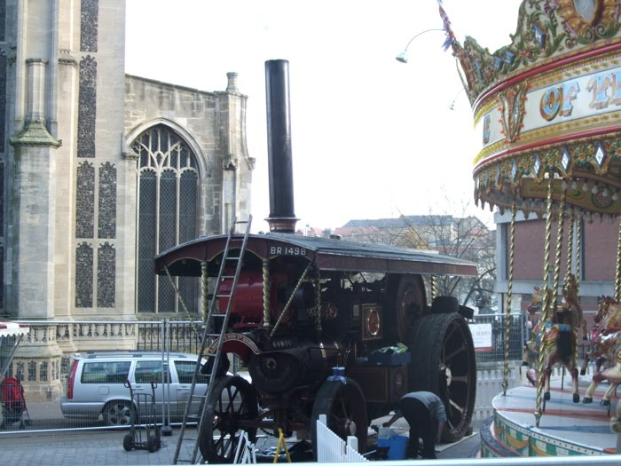 Halfie: Traction engine brings coal fire and steam smells to