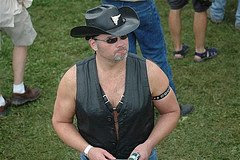 Leather cowboy man