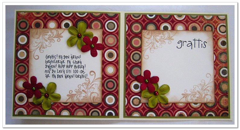 födelsedagskort 80 år Pyssel mamman: A birthdaycard / Födelsedagskort födelsedagskort 80 år