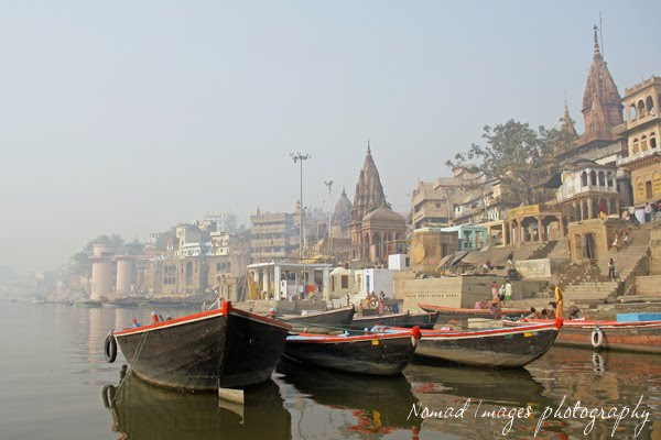 boats on river ganga in varanasi