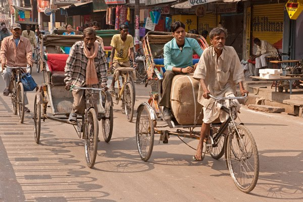 varanasi cycle rickshaws in godolia