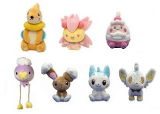 Shinx Pachirisu Buizel Cherrim Drifloon Buneary Happiny Plush