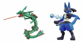 Rayquaza Lucario Battle action figure
