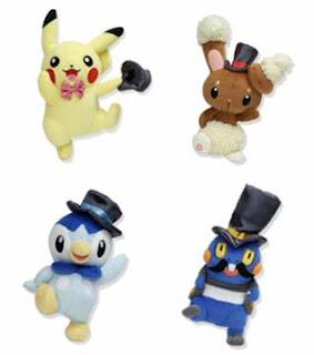 Pikachu Piplup Buneary Croagunk Pokemon Contest Plush