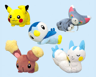 Pokemon Plush Banprest Relax Posing Sep
