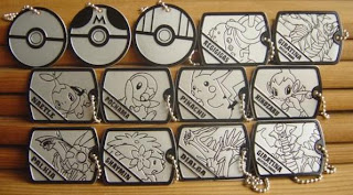 Pokemon Metal Name Tag