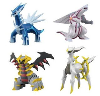 Pokemon Soft Vinyl Figure Dialga Palkia Giratina_another_form Arceus Tomy