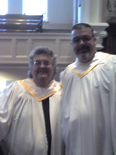 Me and Alan today, after our last service together