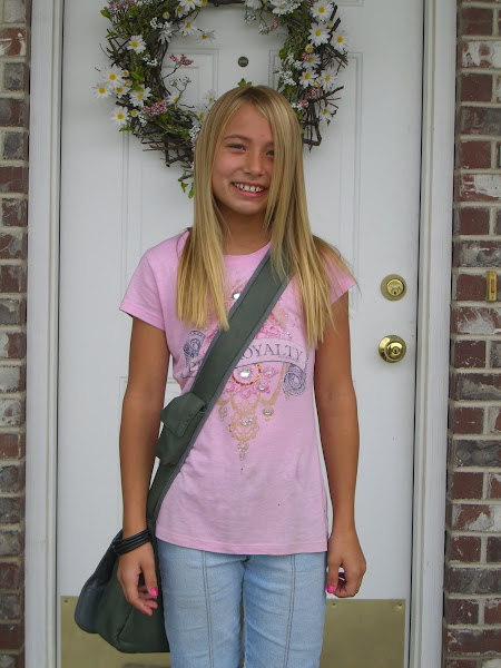 Taya's first day in 4th grade