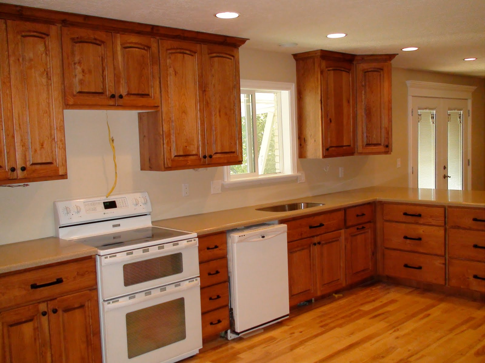 Rustic Cherry Wood Cabinets