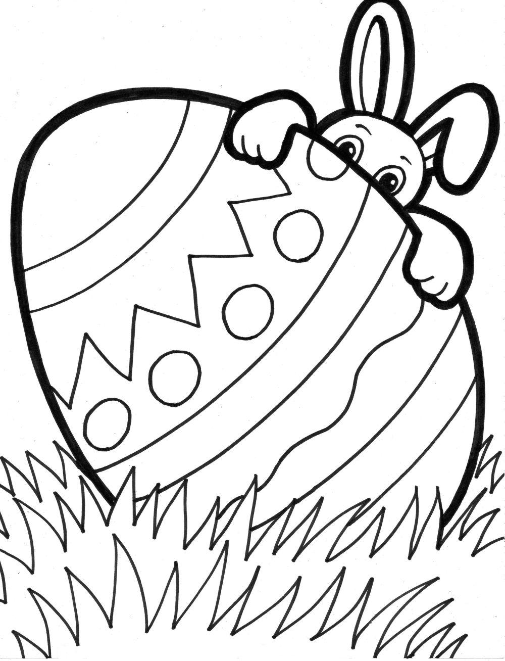 Easter Egg Resurrection Printable Coloring Pages