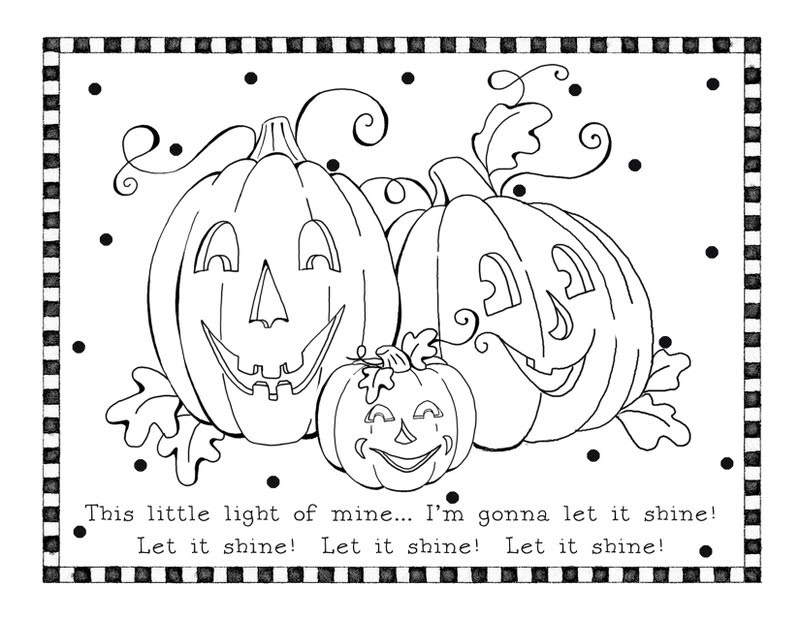 Fall free printables for kids for Fall and halloween coloring pages