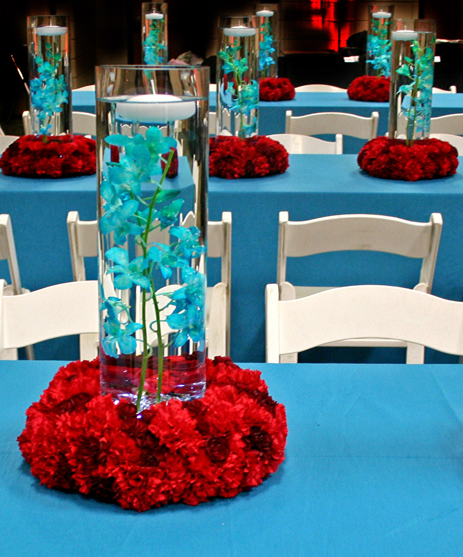 Teal Wedding Ideas For Reception: The Petal Press: The Bold And The Beautiful: Red And Teal