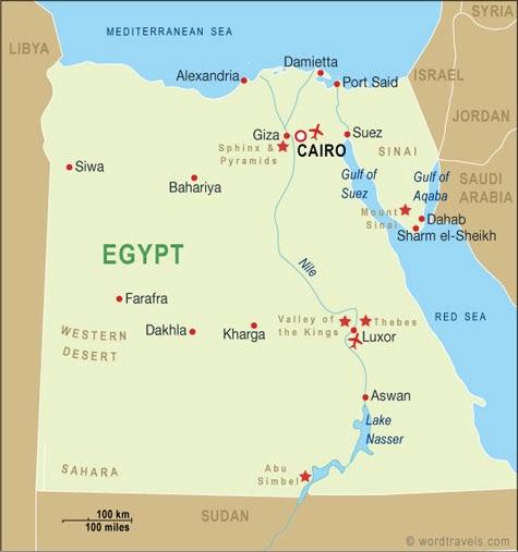 Lake Nasser Map The Hauptmann's: Map of Egypt & Lake Nasser Lake Nasser Map