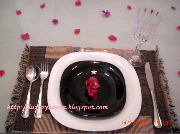 diy valentines day table setting