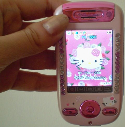 hello kitty touch screen handphone