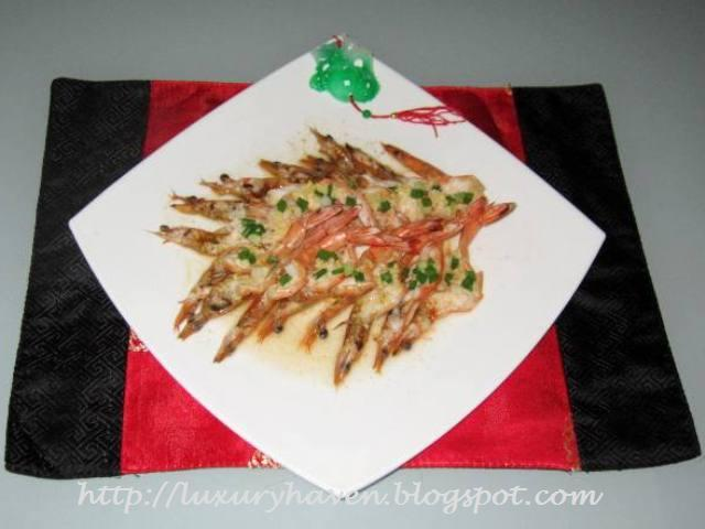 cny steamed longevity butterfly prawns recipe