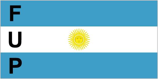 La bandera de la agrupación FUP