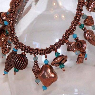 Copper Charm bracelet by DGDesignsTx.etsy.com