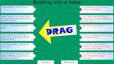 Chiew's ESL EFL CLIL Dialogue Booking into a Hotel Games Activities