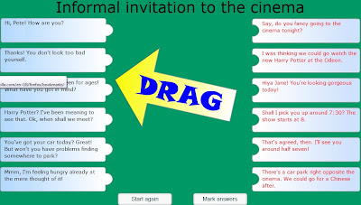 Chiew's ESL EFL CLIL Dialogue Invitation to Cinema Games Activities