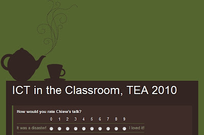 Chiew's ESL EFL CLIL Online Games Juegos Activities Actividades: TEA 2010 Survey