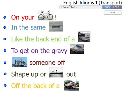 Chiew's CLIL EFL ESL ELL TEFL Games Activities: Transport Idioms