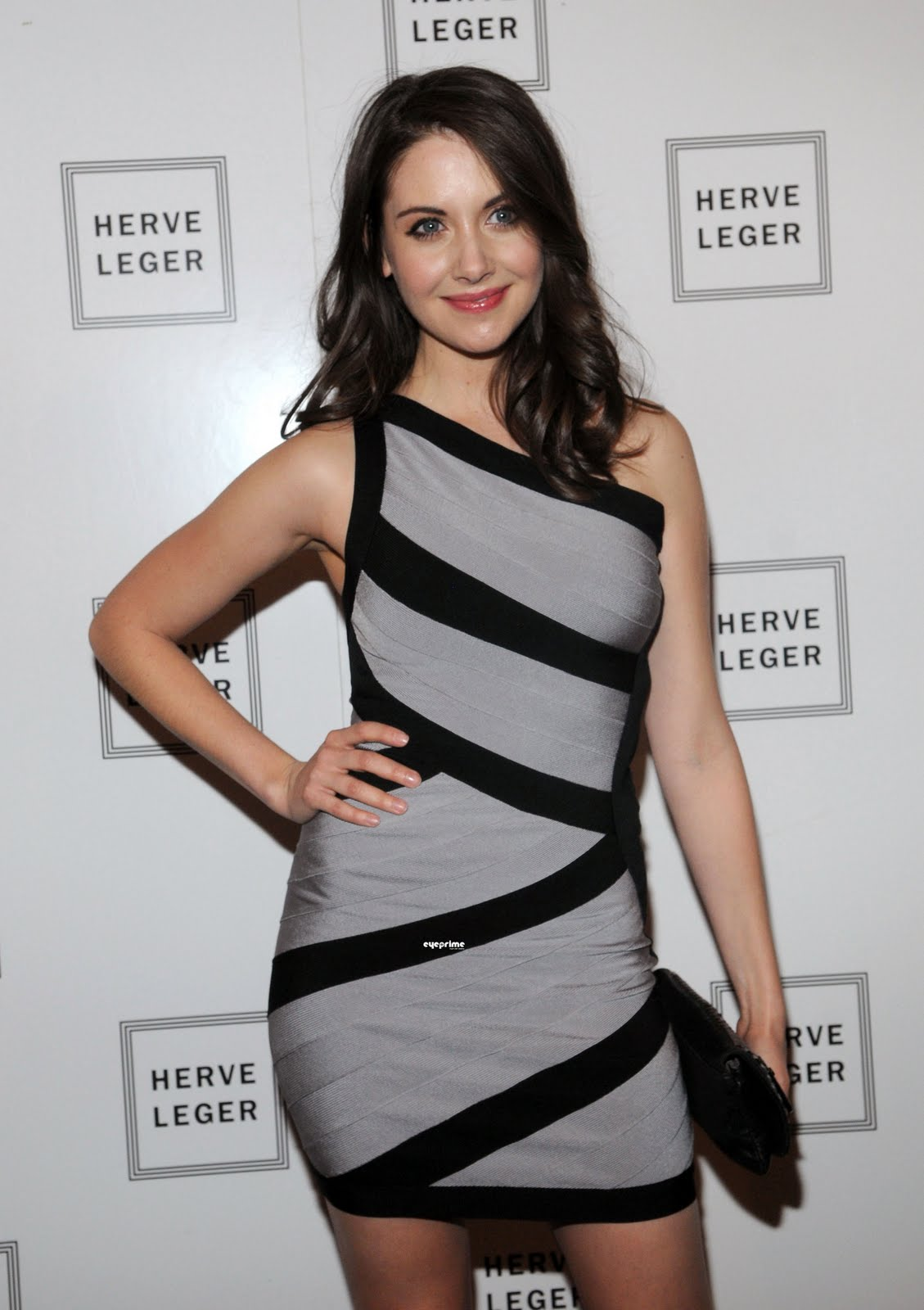 Alison Whitney wallpaper world: the herve leger show-alison brie sexy photo