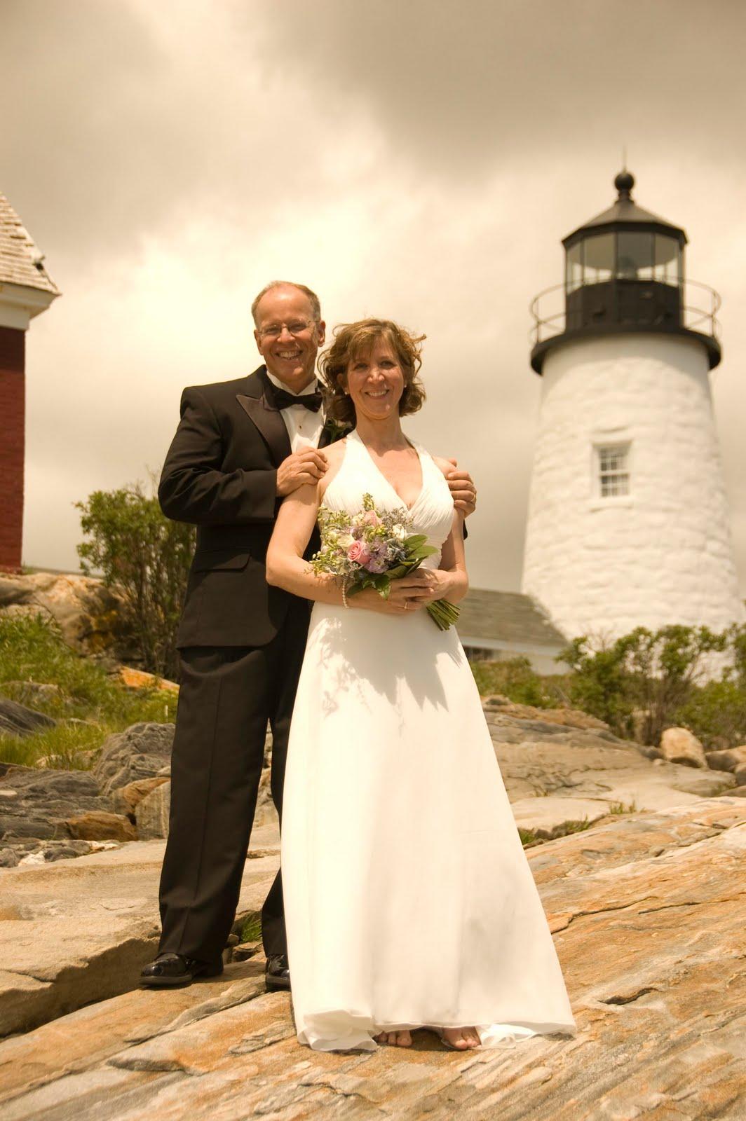 Bonnie Farmer Photography Ken  Kathys Wedding at Pemaquid Point Lighthouse  Robinhood Free