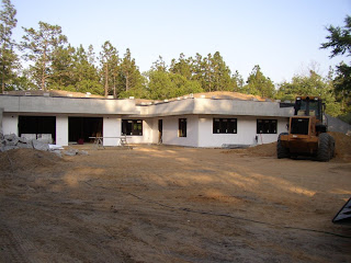Earth sheltered house in dunnellon fl foam insulation prior to