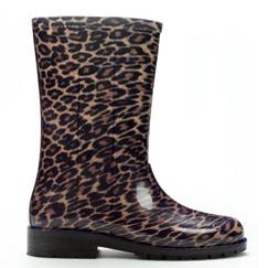 botas de agua leopardo Zara