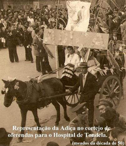 Adiça num cortejo em Tondela (anos 50)
